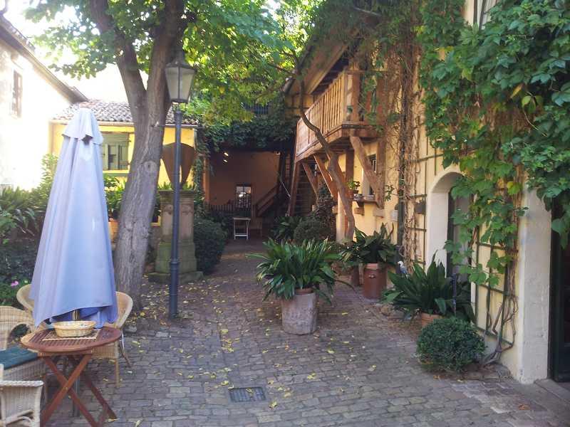 Im Innenhof von Hauptstraße 31.