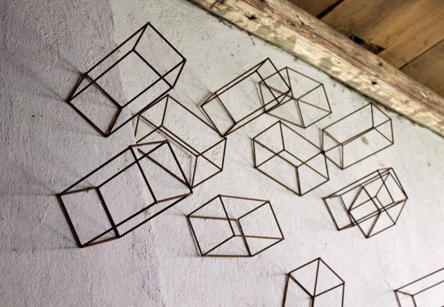 Ulrich Schreiber: Boîtes 4, 38 Teile, 2010 (Detail)