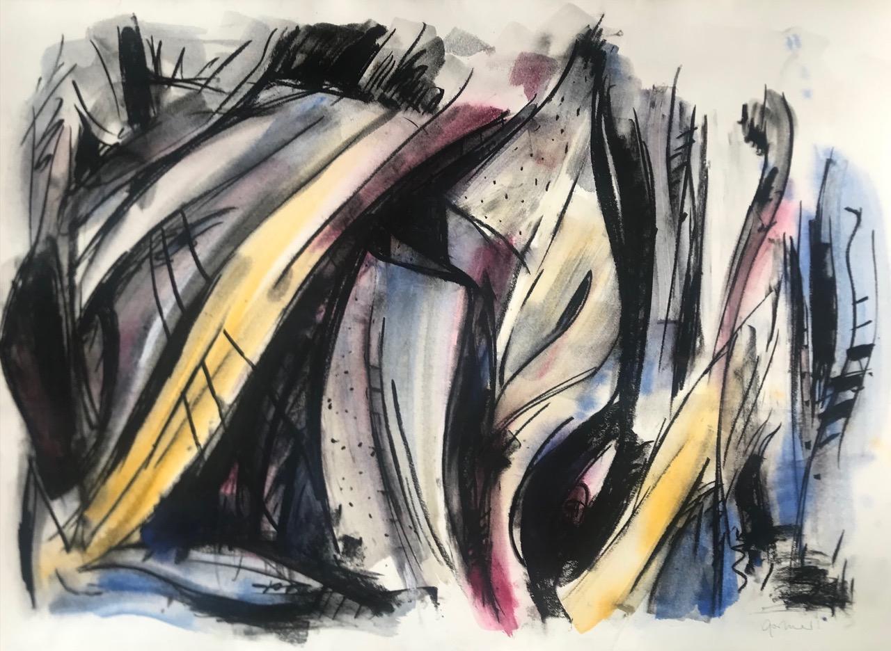 Ute Gortner: Ohne Titel, 1992, 107x76 cm, Aquarell und Kreide auf Büttenpapier