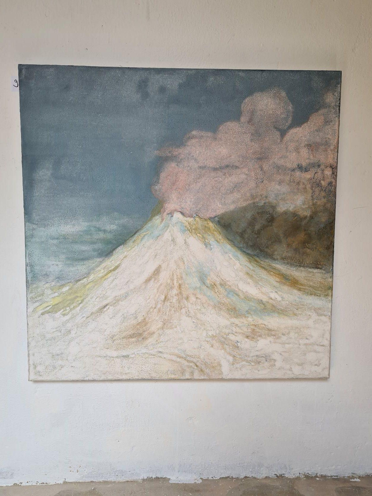 Jie Li, 2019, Fuji Weiss, Mineralpigmente auf Holz